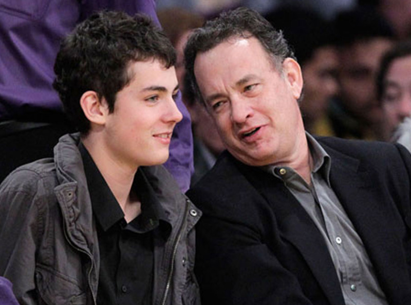 Hanks Family with his Son